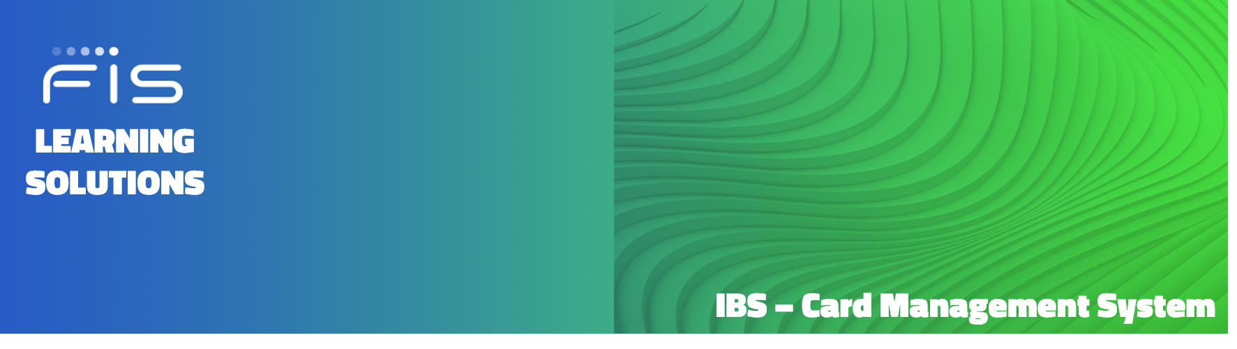 FIS Learning Solutions IBS Card Management